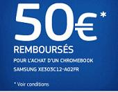 Odr pc portable samsung XE303C12-A02FR : 50 euros remboursé par samsung